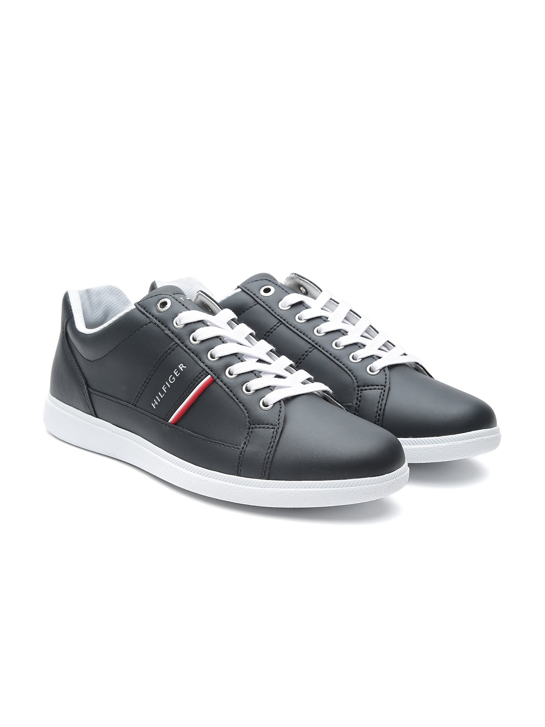 988cb3890a3970 Buy Tommy Hilfiger Men Navy Blue Leather Sneakers - Casual Shoes for ...