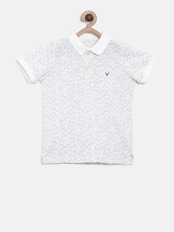 d1e56842ed13 Buy Allen Solly Junior Boys White Printed Polo T Shirt - Tshirts for ...