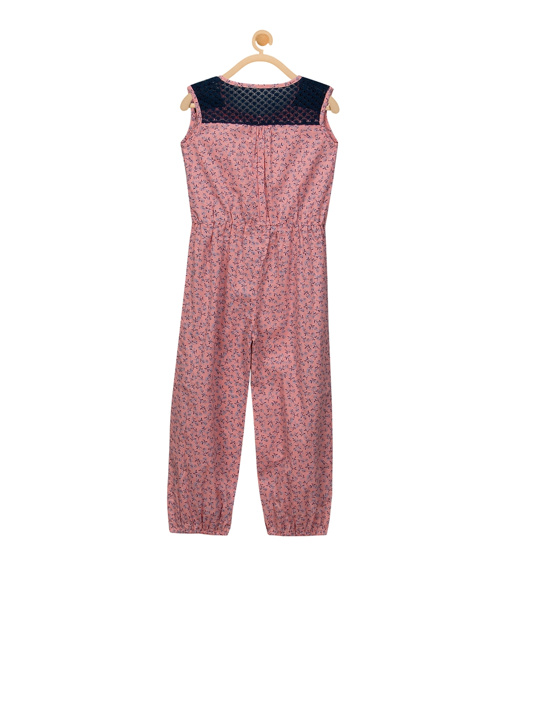 6f53683ce36 Buy Budding Bees Peach Coloured Printed Basic Jumpsuit - Jumpsuit ...