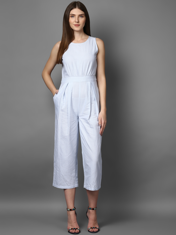daee36868b5c Buy STREET 9 Women Blue Striped Culotte Jumpsuit - Jumpsuit for ...