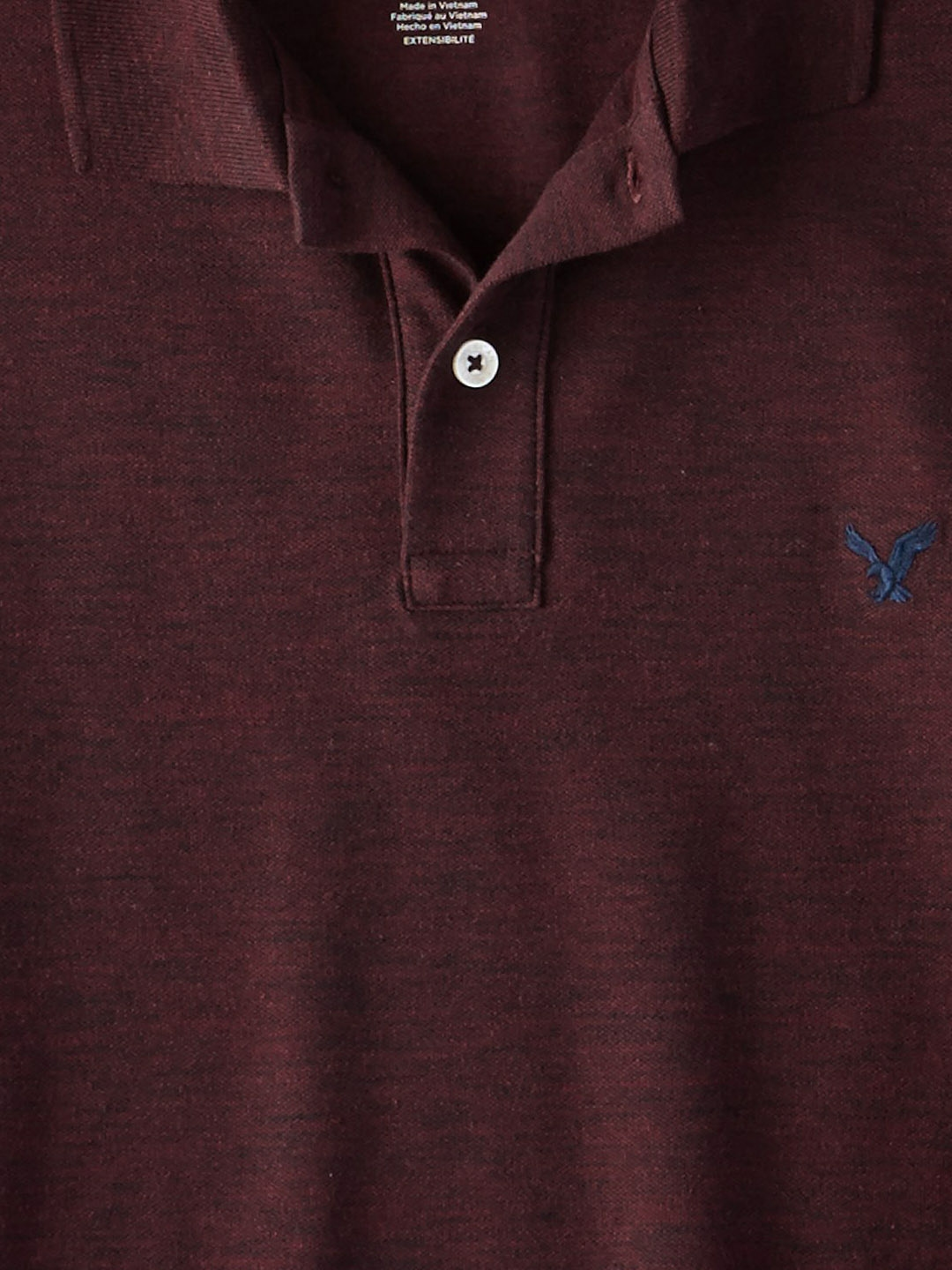 dc105c1f Buy AMERICAN EAGLE OUTFITTERS Men Burgundy Solid Polo Collar T Shirt ...