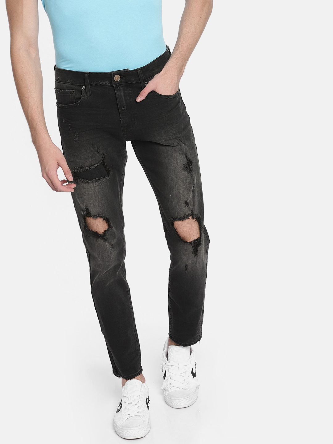 171178feeef Buy AMERICAN EAGLE OUTFITTERS Black Skinny Fit Mid Rise Mildly ...
