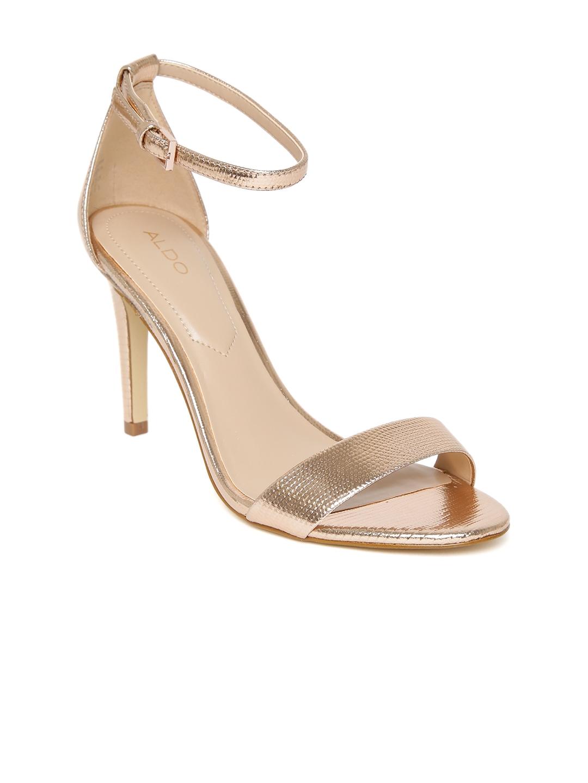 4099fd2155cf Buy ALDO Women Rose Gold Toned Solid Sandals - Heels for Women ...