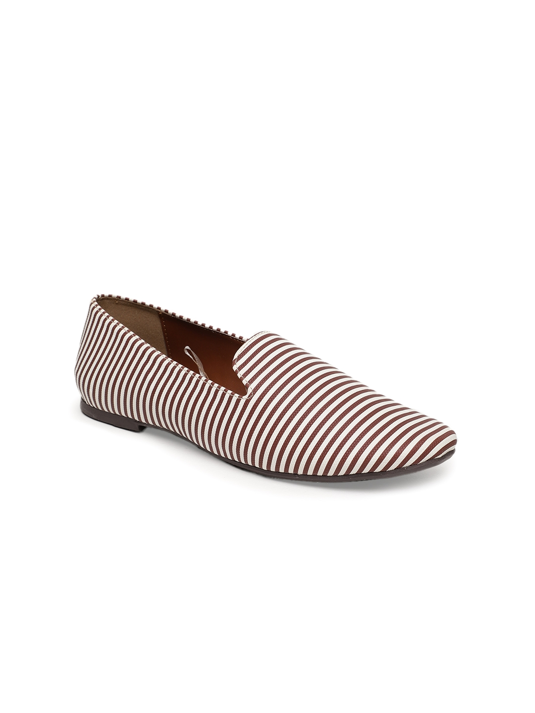 0d498d786167 Buy Lavie Women Brown Striped Synthetic Flat Shoes - Flats for Women ...