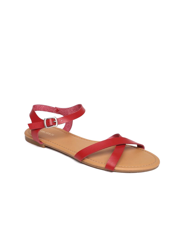 b7d1b02e3d1 Buy FOREVER 21 Women Red Comfort Sandals - Sandals for Women 5424269 ...