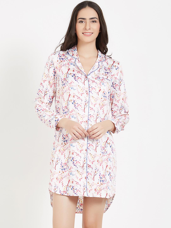 d11752c9 Buy PrettySecrets Women White & Red Printed Sleep Shirt PS0916SSL01 ...