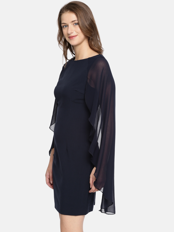 4b780476609 Buy Vero Moda Women Navy Blue Solid A Line Dress - Dresses for Women ...