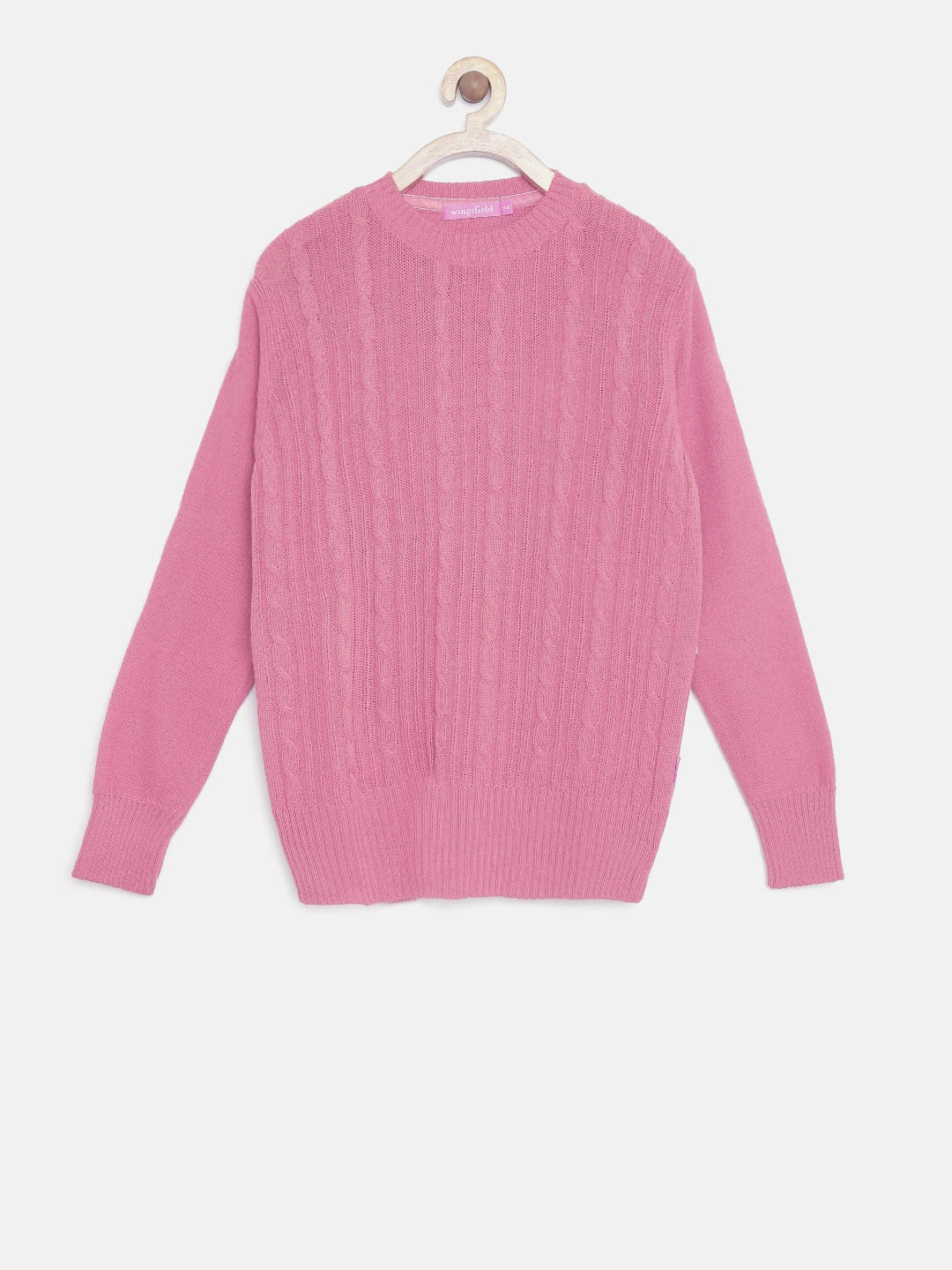 041aa825585d Buy Wingsfield Girls Pink Cable Knit Sweater - Sweaters for Girls ...