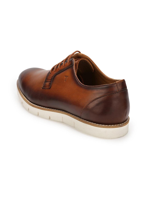 18ab29478d3 Buy Van Heusen Men Tan Brown Leather Derbys - Formal Shoes for Men ...