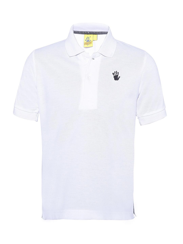 400381f68 Buy Punkster Boys White Solid Polo Collar T Shirt - Tshirts for Boys ...