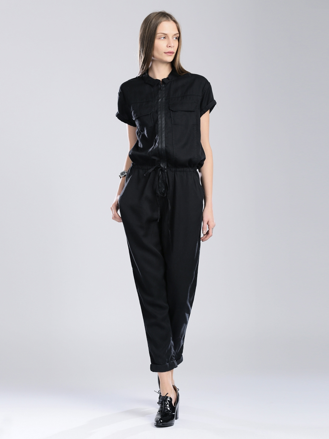 8a00259df76 Buy Calvin Klein Jeans Black Jumpsuit - Jumpsuit for Women 551694 ...