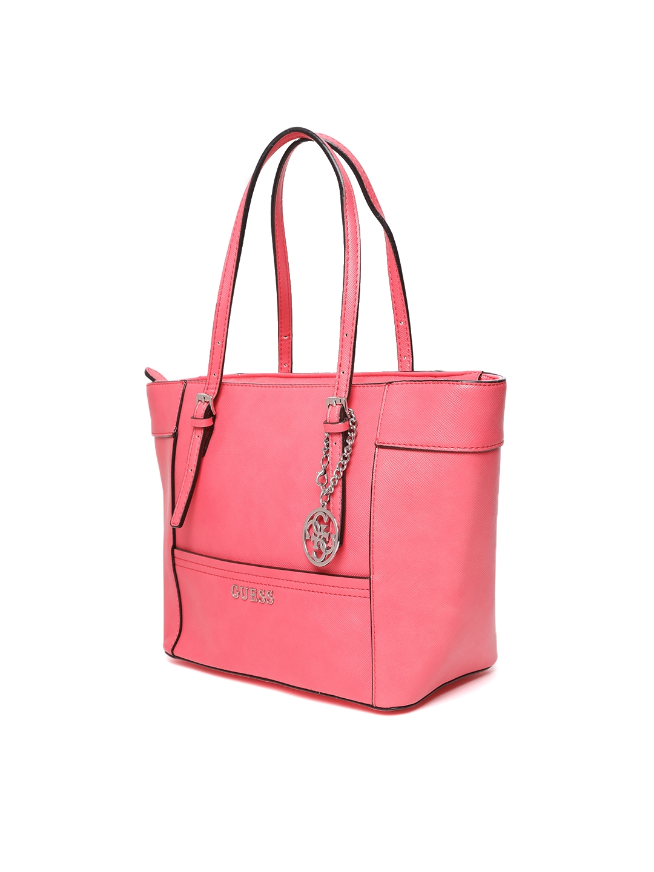 Buy GUESS Pink Solid Shoulder Bag - Handbags for Women 5524163   Myntra b74a9ccd8d