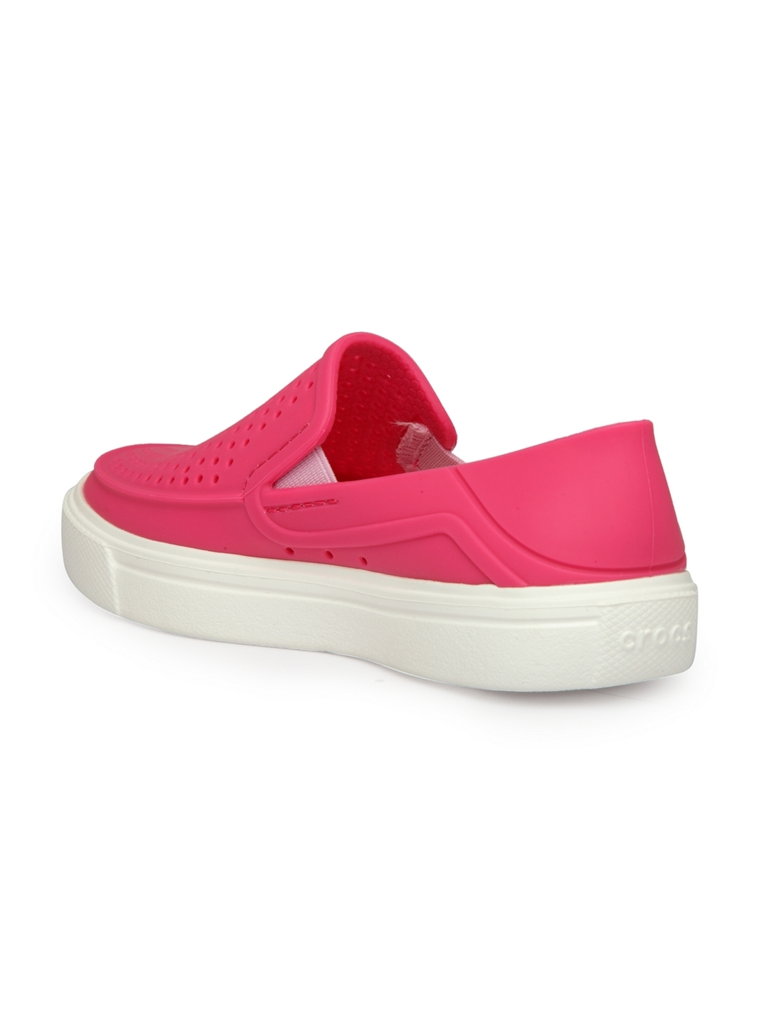 b9468fd0145e0 Buy Crocs Girls Pink Solid Slip On Sneakers - Casual Shoes for Girls ...