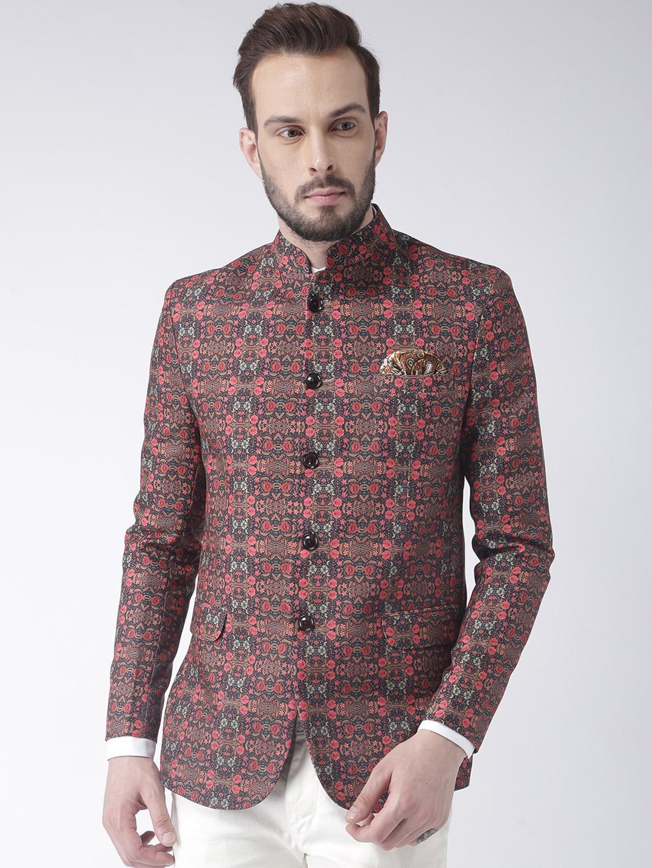 e9e27a6c511 Buy Hangup Men Brown Printed Blazer - Blazers for Men 5524689