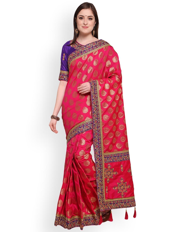 54105a07a900b1 Mitera Cream-Coloured Silk Blend Woven Design Kanjeevaram Saree