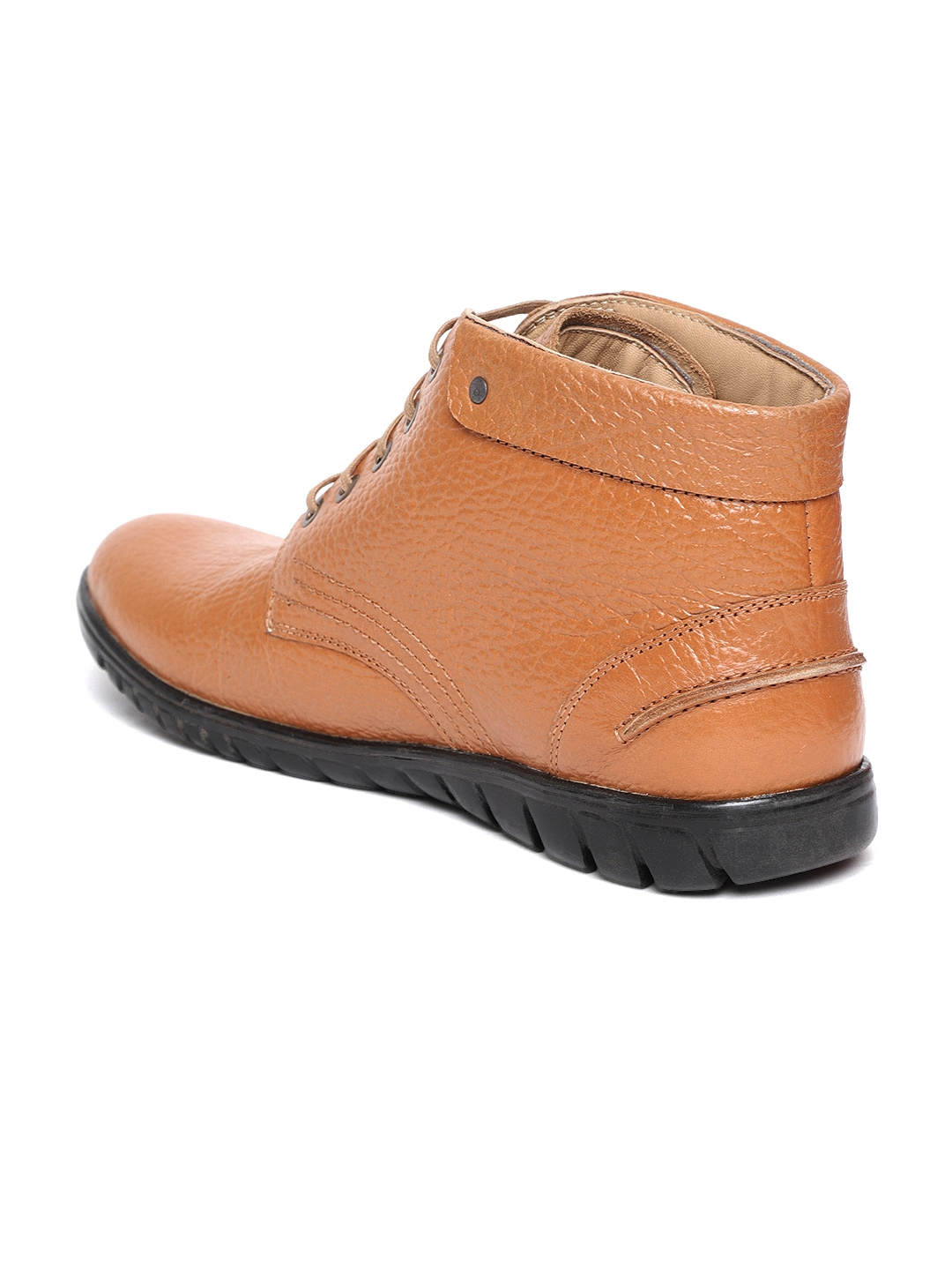 Buy Red Chief Men Tan Brown Leather Flat Boots - Casual Shoes for ... 51b88c834539