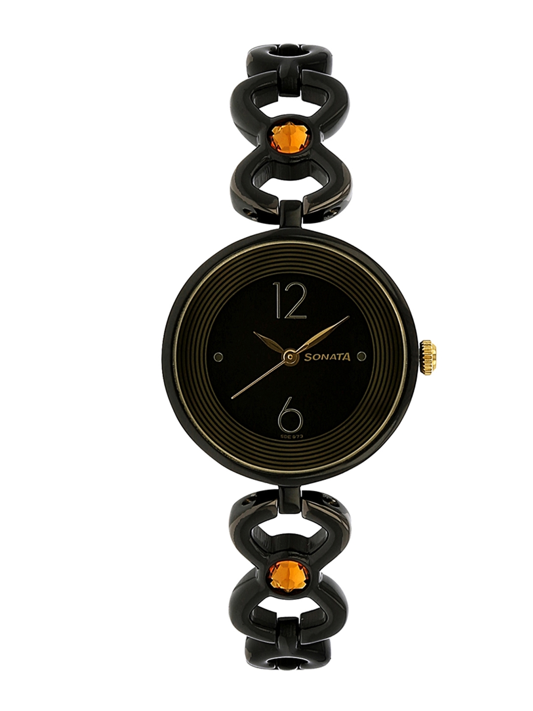Sonata Women Black Analogue Watch