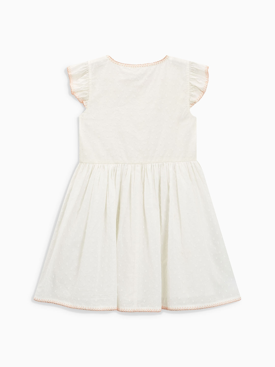 def690fcf3a6 Buy Next Girls White Embroidered Fit   Flare Dress - Dresses for ...