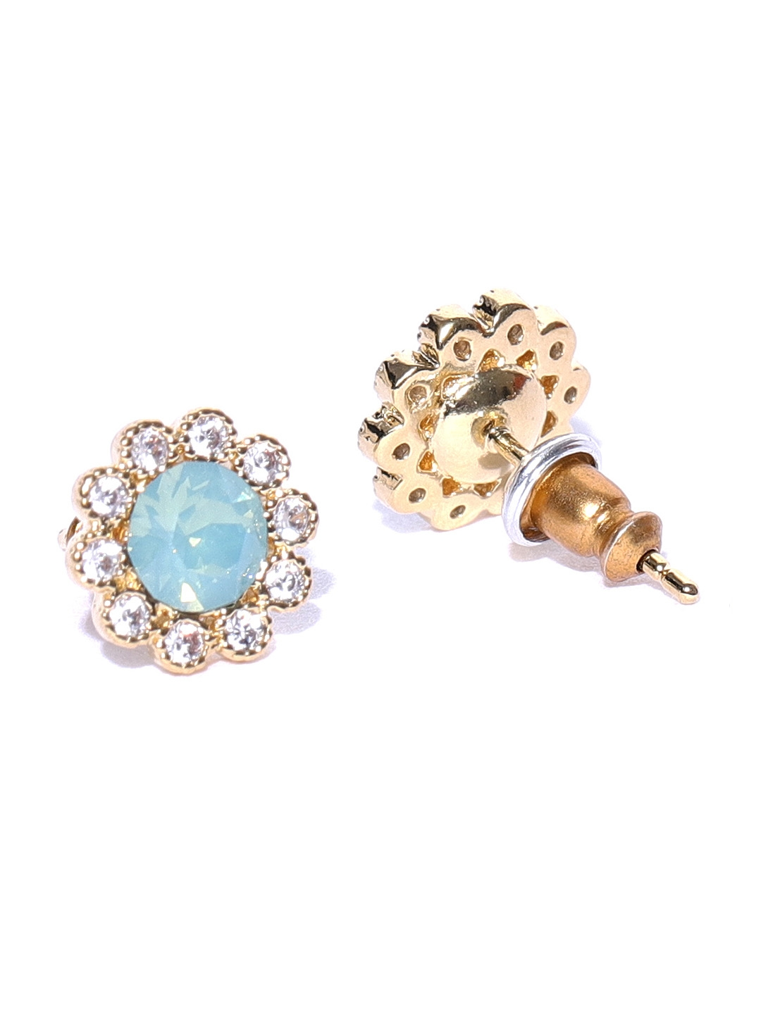 aa0cf33ea Buy Accessorize Green Gold Plated Floral Swarovski Crystal Studs ...