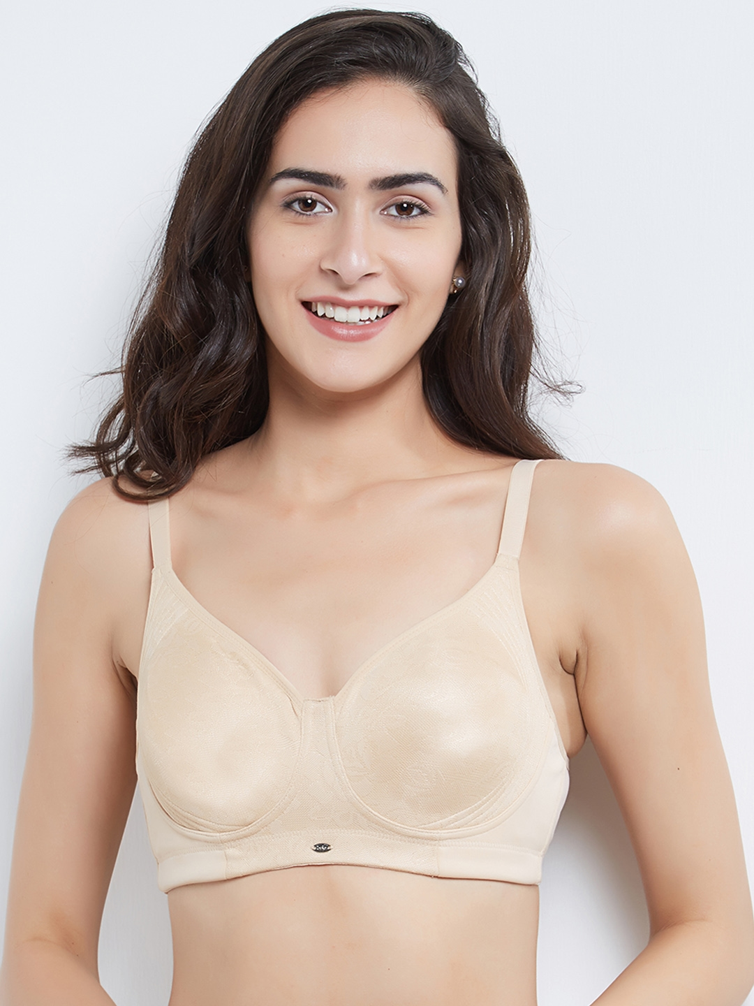 565312f7432 Buy Soie Nude Coloured Solid Non Wired Non Padded T Shirt Bra CB ...