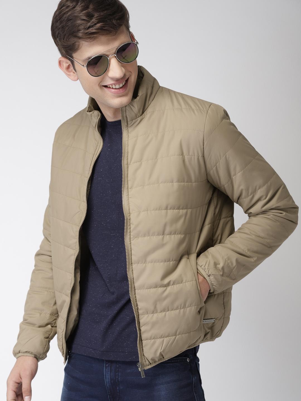 9d05429979e Buy Mast   Harbour Men Beige Solid Puffer Jacket - Jackets for Men ...