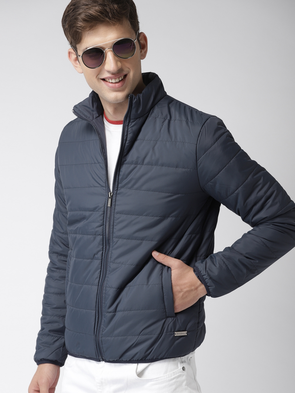 cb999473c1c Buy Mast   Harbour Men Navy Blue Solid Puffer Jacket - Jackets for ...