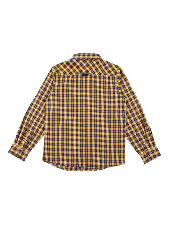 496e78796 Buy URBAN SCOTTISH Boys Yellow & Blue Regular Fit Checked Casual ...