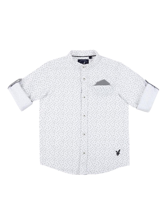 Buy Urban Scottish Boys White Black Regular Fit Printed Casual