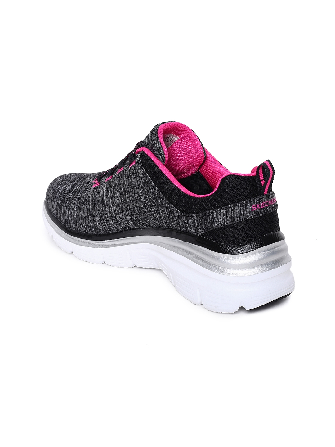 1284738c7a0 Buy Skechers Women Black Fashion Fit Up A Level Slip On Sneakers ...