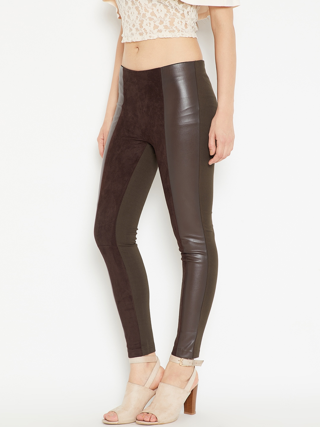 5e2388c5d20413 Buy Madame Brown Jeggings - Jeggings for Women 5661546 | Myntra