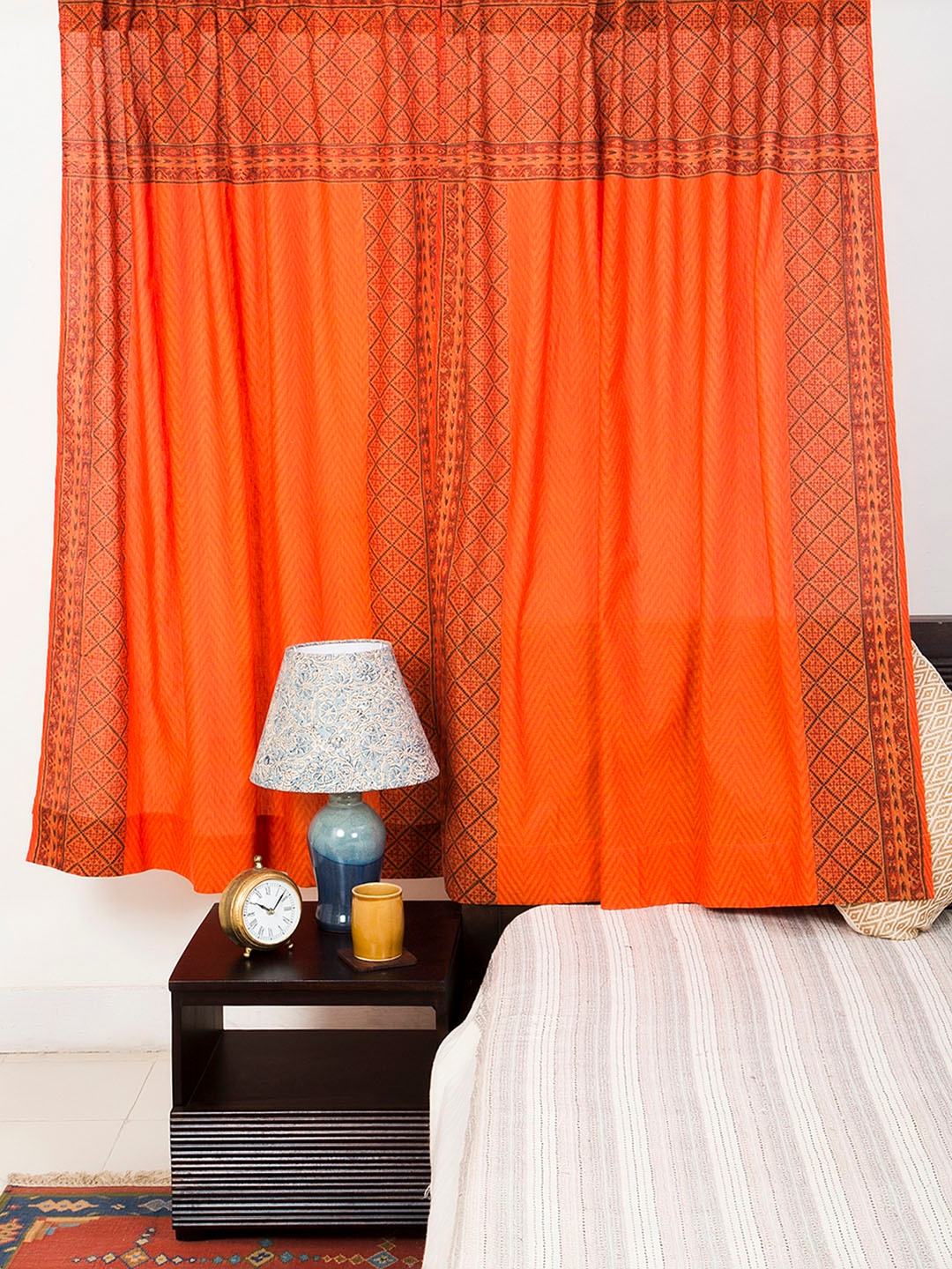 Buy Fabindia Orange Sheer Window Curtains Curtains And Sheers For Unisex 5700961 Myntra