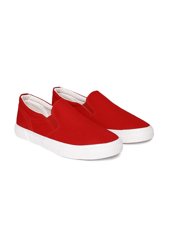 GAS Men Red Solid SANTAMONICA Slip On Sneakers