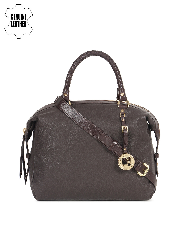 613c5f7ca88 Buy Da Milano Brown Solid Genuine Leather Handheld Bag - Handbags ...