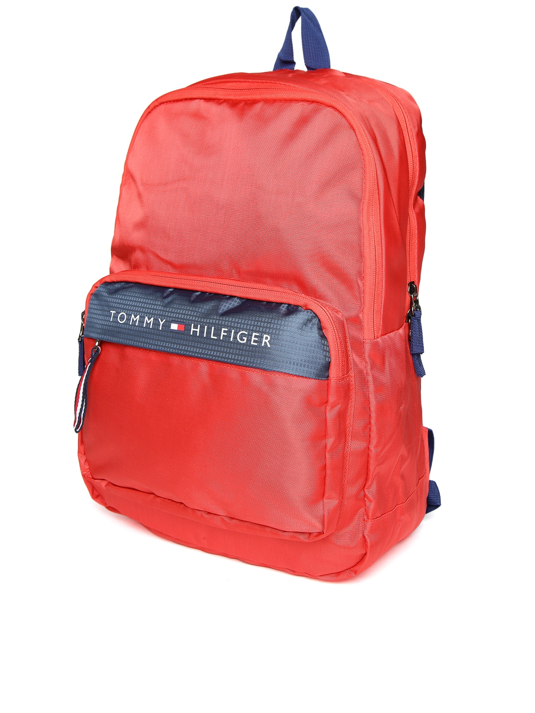 4697bc5ed6 Buy Tommy Hilfiger Men Red Solid Laptop Backpack - Backpacks for Men ...