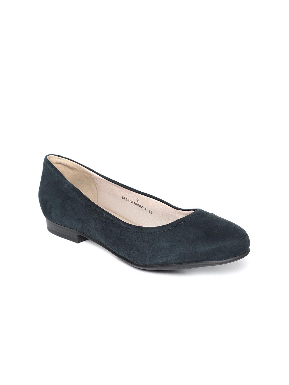 a0a5c86ec8fec Buy Marks & Spencer Women Navy Leather Ballerinas - Flats for Women ...