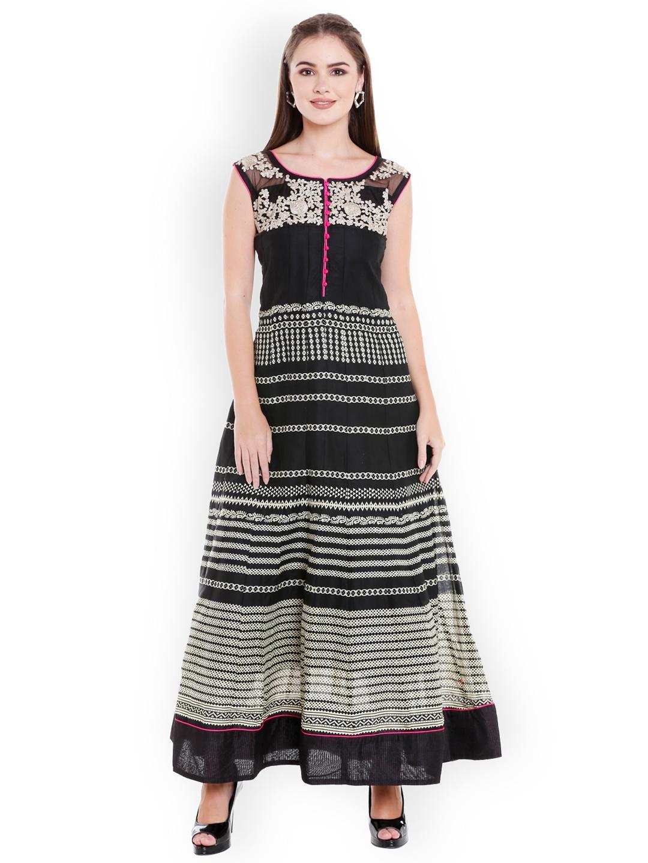 1401b968a2ba86 Buy Ishin Women Black Solid Maxi Dress - Dresses for Women 5836405 ...