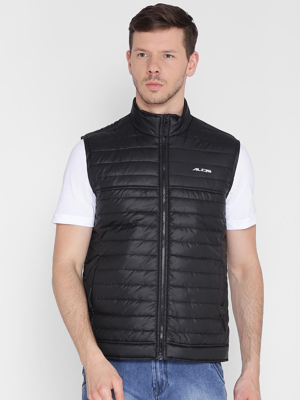 Alcis Men Black Solid Lightweight Padded Jacket