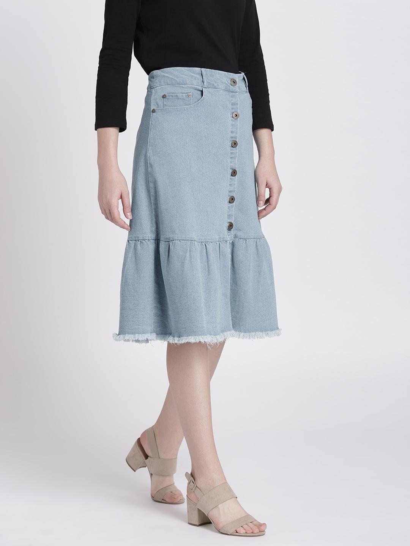 72f2a7599c5a Maternity Jean Skirt Knee Length - raveitsafe
