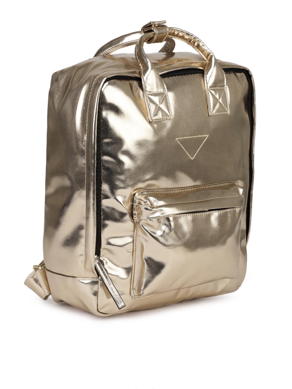 432d50c01f Buy Steve Madden Women Gold Toned Solid Backpack - Backpacks for ...