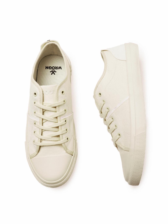 Buy WROGN Men Off White Sneakers