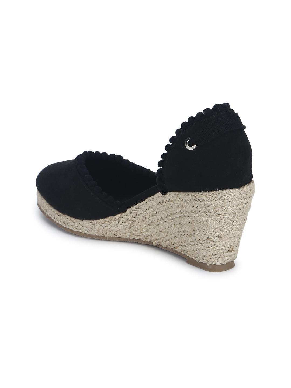 726980aafb9 Buy Truffle Collection Women Black Solid Wedges - Heels for Women ...