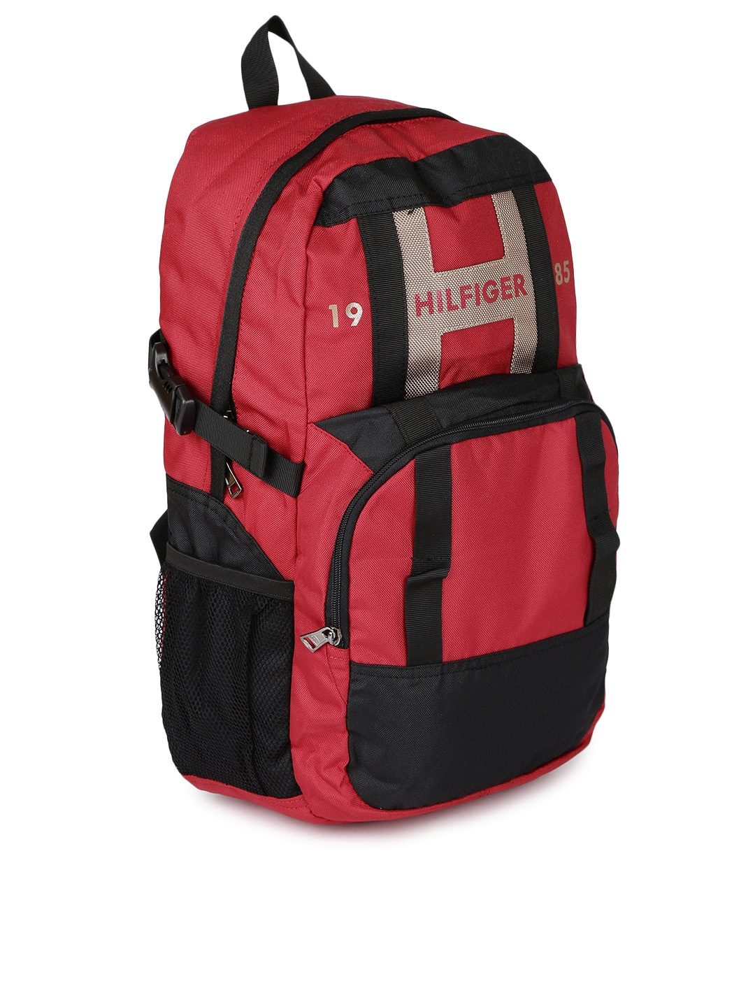 Tommy Hilfiger Unisex Red   Black Backpack