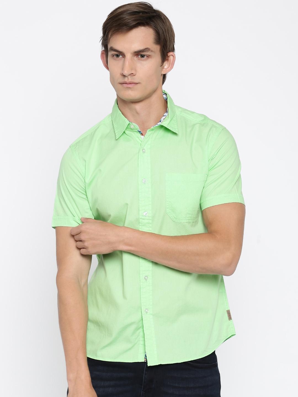 Buy Flying Machine Men Lime Green Casual Shirt Shirts For Men