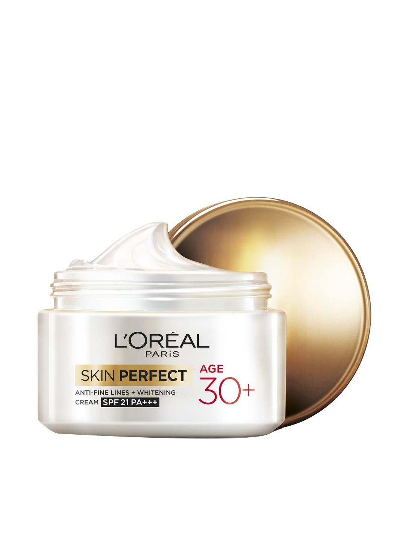 LOreal Paris Unisex Skin Perfect Age 30+ Anti Fine Lines + Whitening SPF 21 Cream 50 g