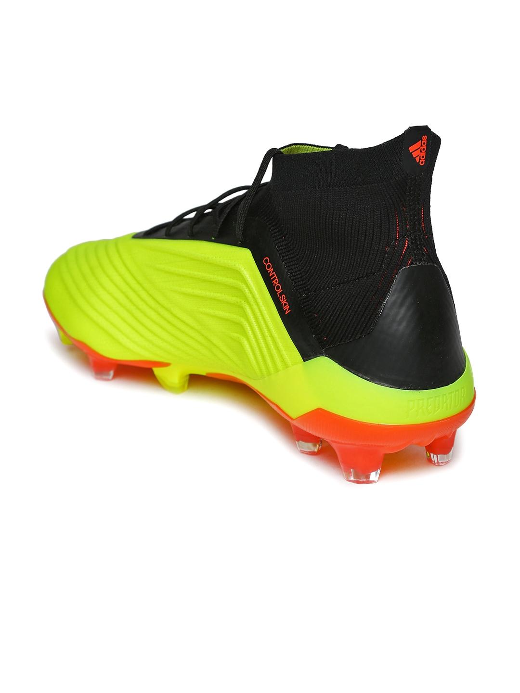 sports shoes 78802 f55f6 ADIDAS Men Neon Yellow  Black Predator 18.1 FG Football Shoes