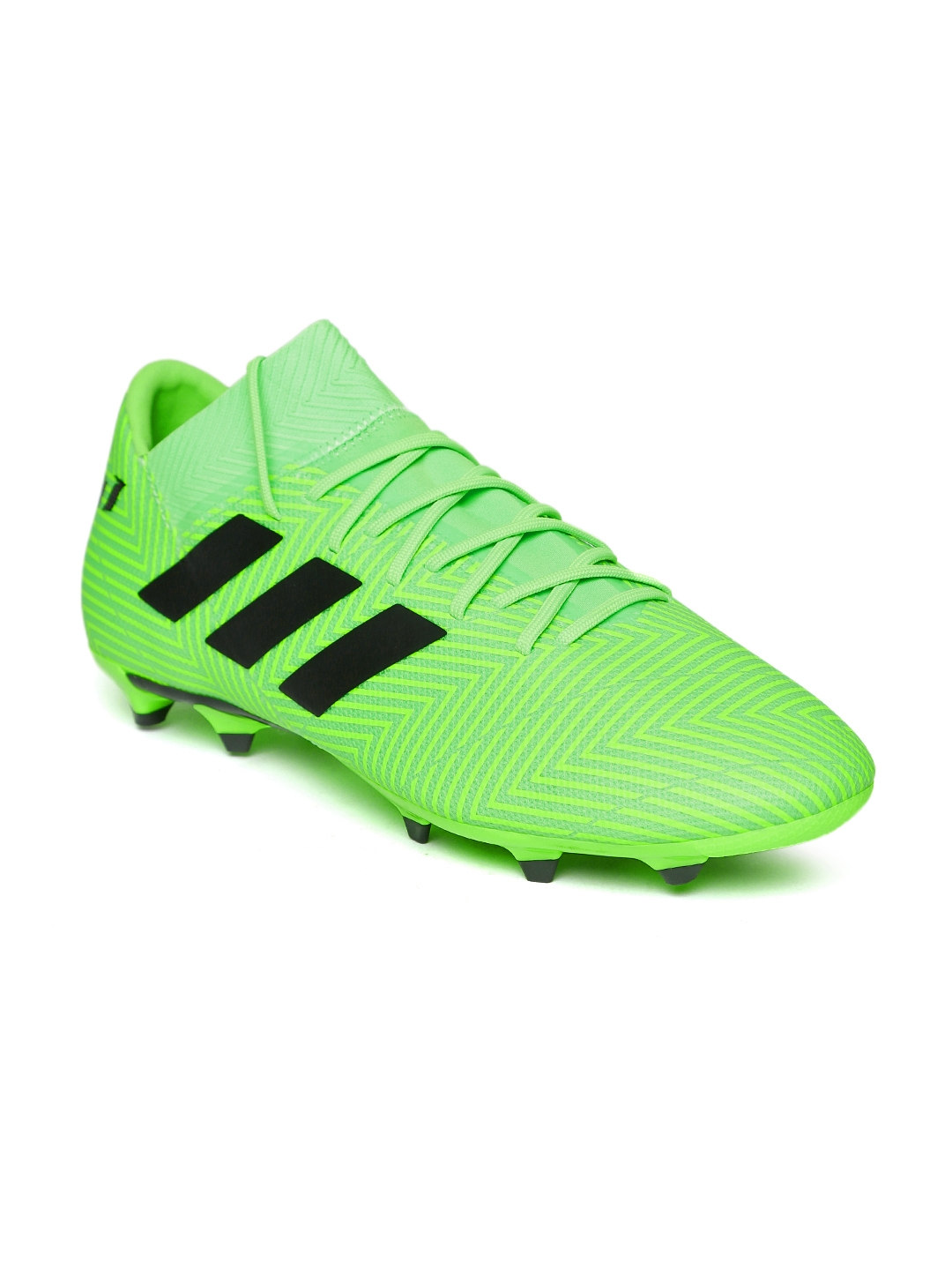 d631357667f Buy ADIDAS Men Fluorescent Green NEMEZIZ Messi 18.3 FG Football ...