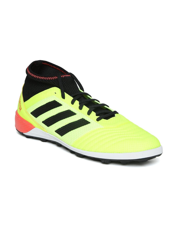 4a08c5cbe10 ADIDAS Men Fluorescent Green Predator Tango 18.3 Turf Cleats Football Shoes