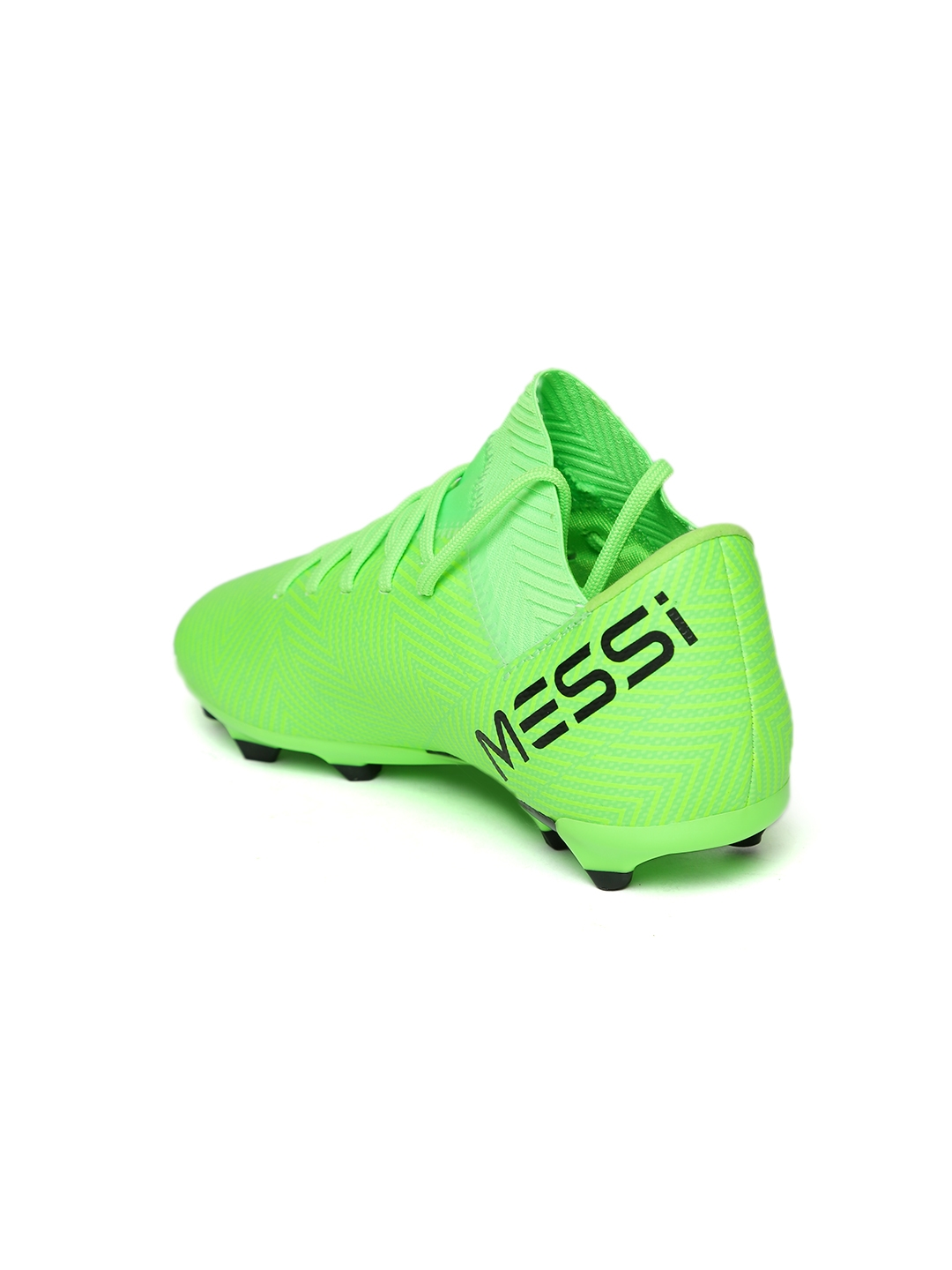 online store 9eced d0a39 ADIDAS Boys Green Nemeziz Messi 18.3 Firm Ground Football Shoes