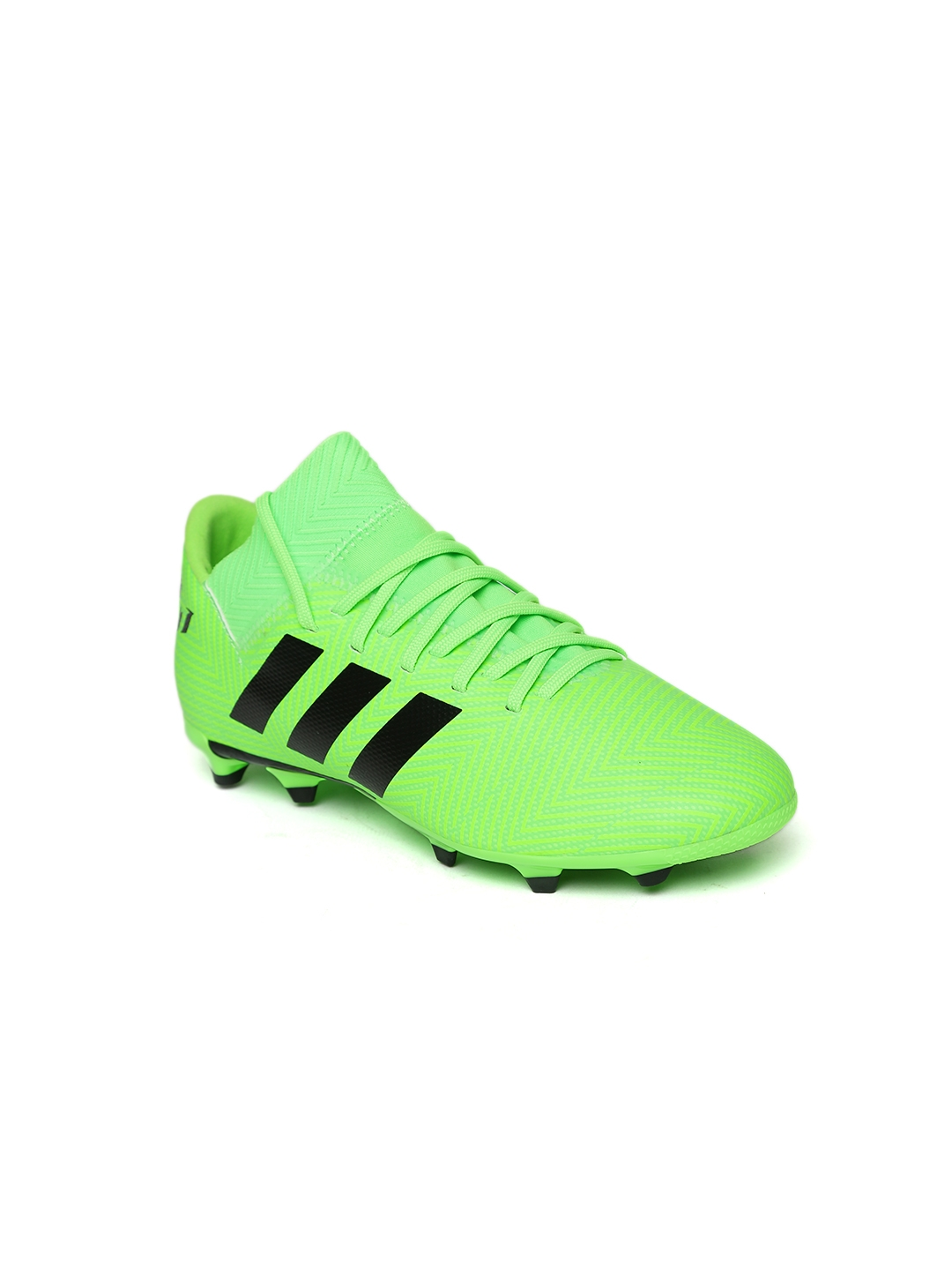 65d9155dc651 Buy ADIDAS Boys Green Nemeziz Messi 18.3 Firm Ground Football Shoes ...
