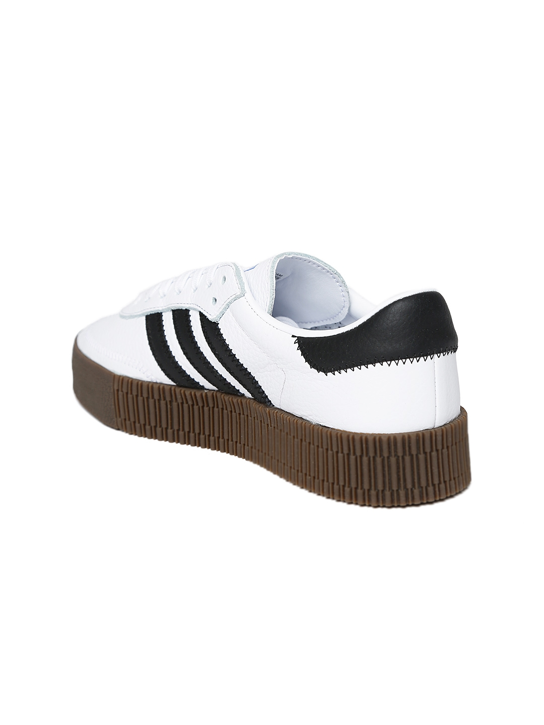 differently fc422 1cfe9 ADIDAS Originals Women White Sambarose Leather Casual Shoes